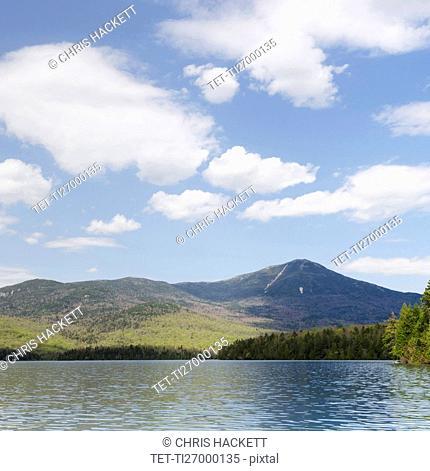 Whiteface Mountain seen across Lake Placid
