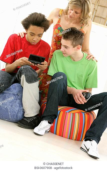 ADOLESCENT PLAYING VIDEO GAME Models