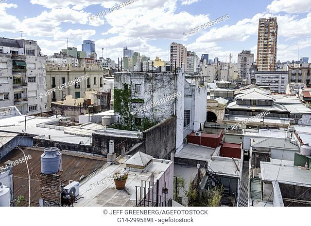 Argentina, Buenos Aires, San Telmo, skyline, rooftops, buildings