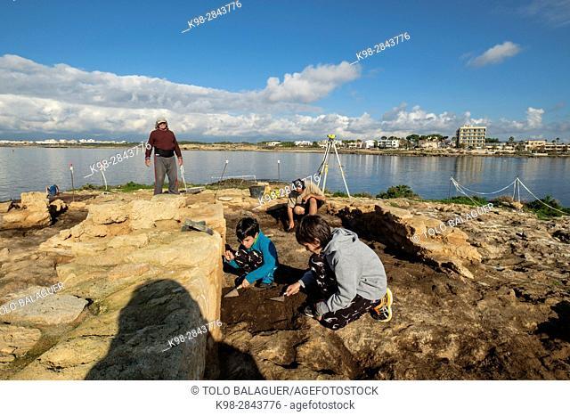 Punic archaeological site, Na Galera islet, Can Pastilla, Palma, Mallorca, Balearic islands, Spain
