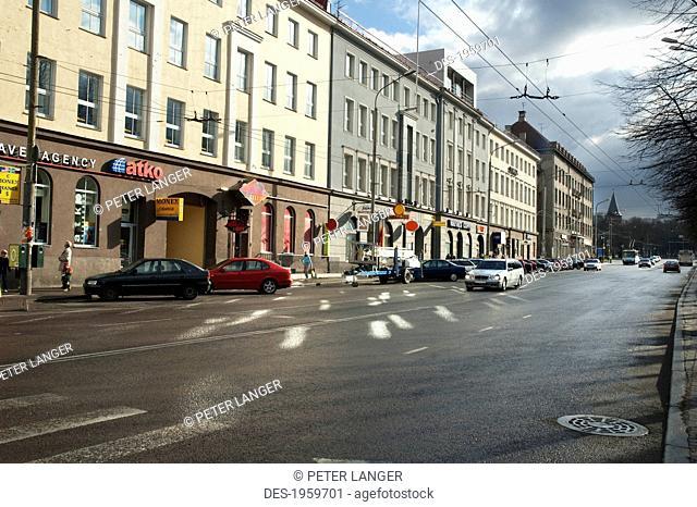 Parnu Boulevard, Tallinn, Estonia