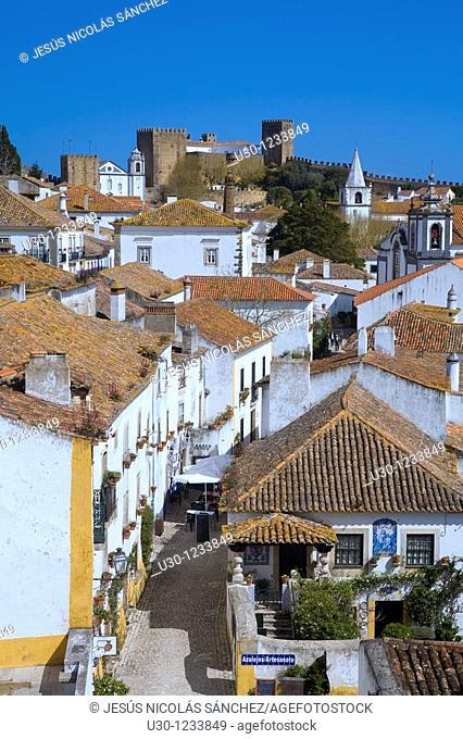Overview of the Historic Village of Obidos, in Estremadura  Leiria District  Center Region  Portugal