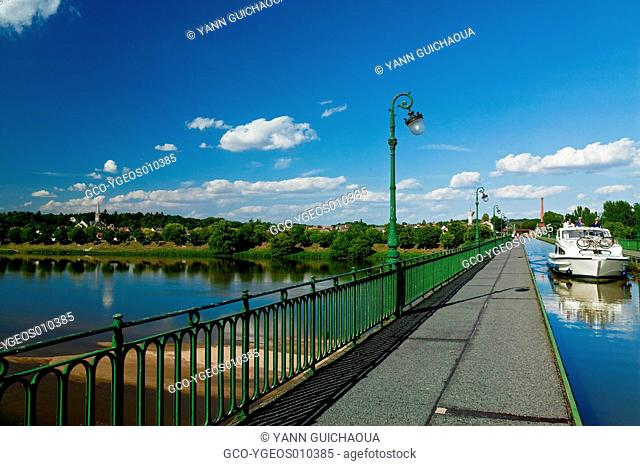 Canal Of Briare Over The Loire River, Briare,Loiret,Centre District,France