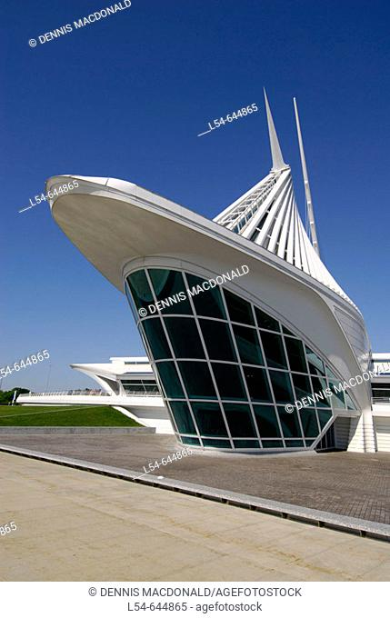 Milwaukee Art Museum in the city of Milwaukee Wisconsin WI USA