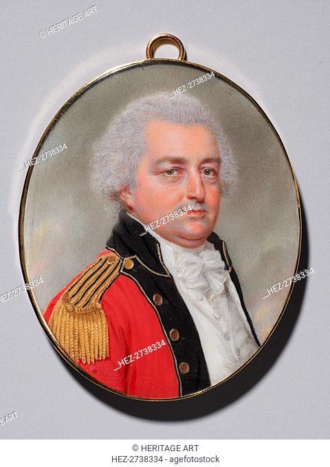 Portrait of an Officer, c. 1794. Creator: John I Smart (British, 1741-1811)