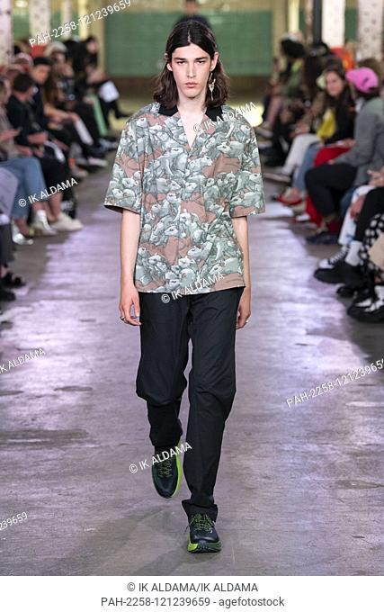JORDANLUCA runway show during London Fashion Week Menswear SS20, LFWM Spring Summer 2020 Collection - London, UK 08/06/2019 | usage worldwide