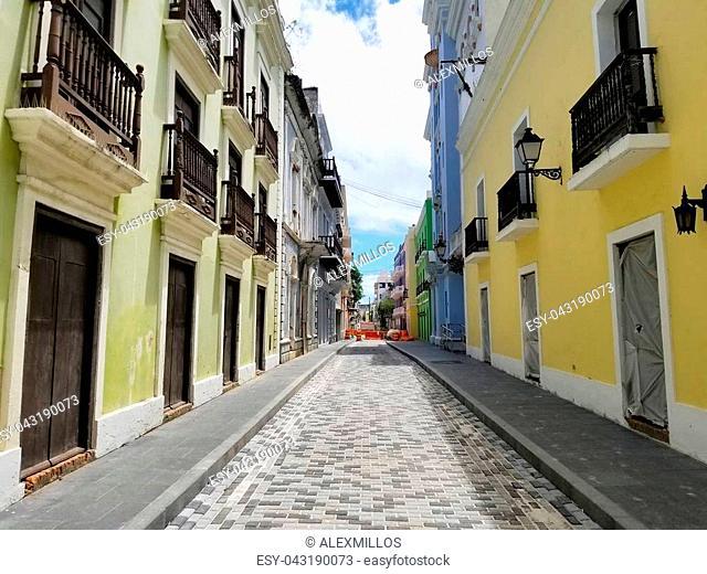 Old town San Juan, Puerto Rico. Sunny Summer day