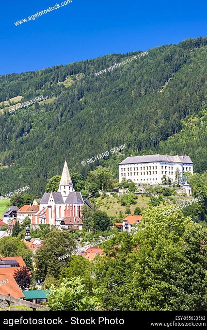 Obermurau castle in Murau, Styria, Austria