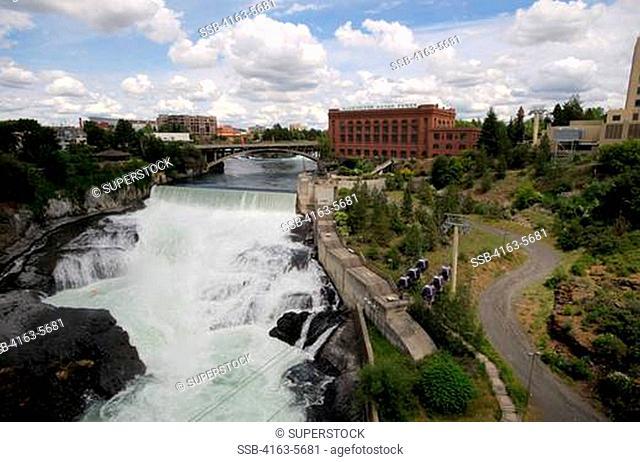 USA, WASHINGTON STATE, SPOKANE, RIVERFRONT PARK, SPOKANE RIVER, SPOKANE FALLS SKYRIDE