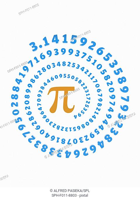 Pi (greek letter orange) is the symbol used in mathematics to represent a constant ÔÇ\ the ratio of the circumference of a circle to its diameter in Euclidean...