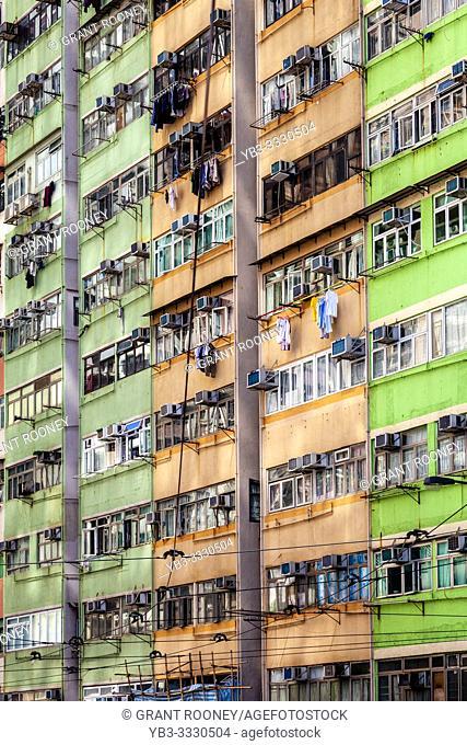 Apartment Block Exterior, Hong Kong, China