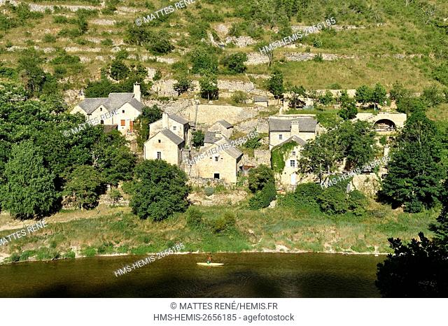 France, Lozere, the Causses and the Cevennes, Mediterranean agro pastoral cultural landscape, listed as World Heritage by UNESCO, the Gorges du Tarn, Hauterives