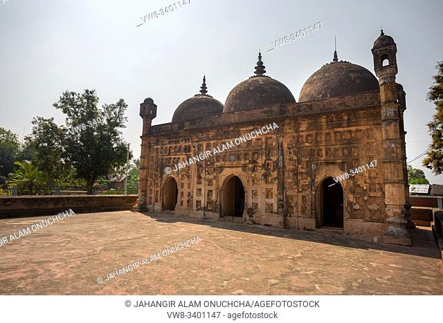 """Bangladesh â. """" March 2, 2019: Nayabad Mosque Side views, is located in Nayabad village in Kaharole Upazila of Dinajpur District, Bangladesh"""