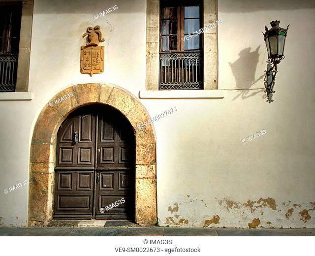 Old house in 'El Quesu' street, Infiesto, Piloña municipality, Asturias, Spain
