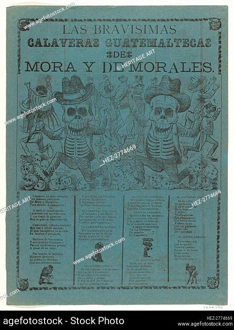 The very brave skeletons of Mora and of Morales, 1907., 1907. Creator: José Guadalupe Posada