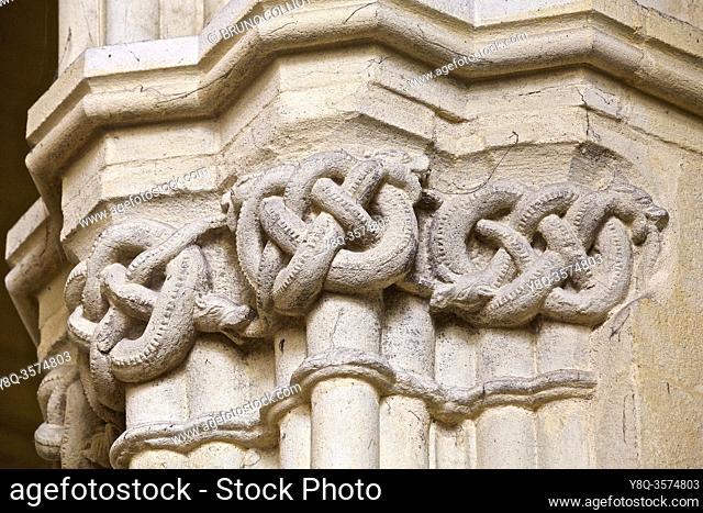 the serpent of the abbey church of St Méen le Grand, ille et vilaine, Brittany, France