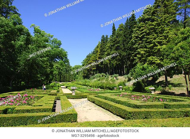 PORTUGAL Tomar -- The gardens of the Convent of Christ in Tomar Portugal, now the Sete Montes park. This part is ornamental gardens and is kept largely as it...
