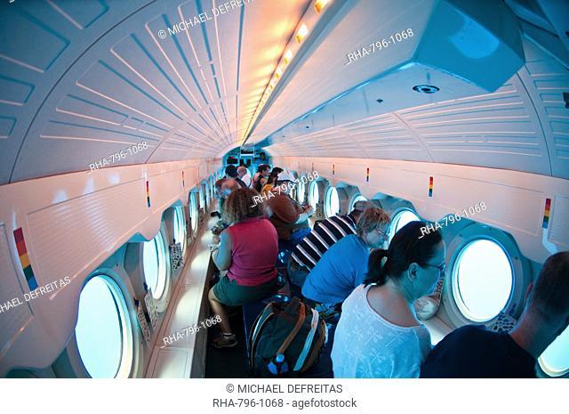 Atlantis submarine, Isla de Cozumel Cozumel Island, Cozumel, off the Yucatan, Quintana Roo, Mexico, North America