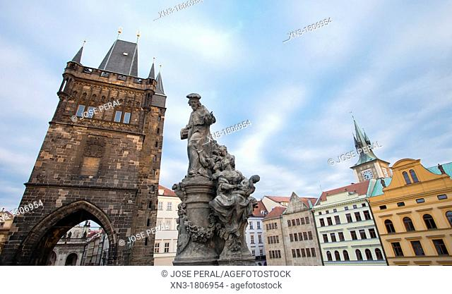 Old Town Bridge Tower, Charles Bridge, Karluv Most, Prague, Czech Republic, Europe