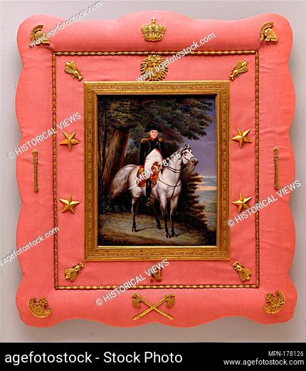 Napoléon I (1769-1821) on Horseback. Artist: Luigi Marta (Italian, Neapolitan, 1790-1858); Date: 1830; Medium: Ivory; Dimensions: 5 3/4 x 7 1/2 in