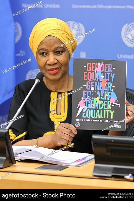 United Nations, New York, USA, March 05, 2020 - Phumzile Mlambo-Ngcuka, Executive Director, UN Women Ahead of International Womens Day on 8 March