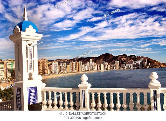Playa de Levante beach. Benidorm. Alicante province, Spain
