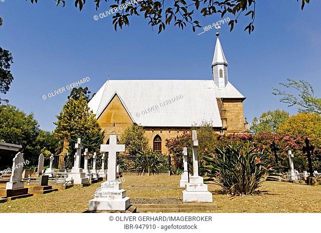 Church in the German mission village of Herrmannsburg, Kwazulu-Natal, South Africa