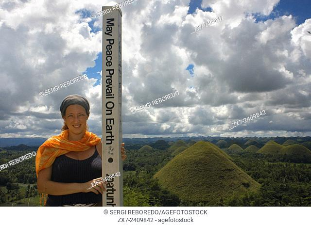 Mountains Chocolate Hills. Bohol. The Visayas. Philippines. The Chocolate Hills are a geological formation in Bohol Province, Philippines