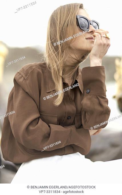 stylish woman, in Paris, France
