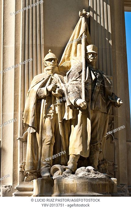 Spain. Madrid. El Retiro Park. Monument to the King Alfonso XII (1914). Work of Jose Grases