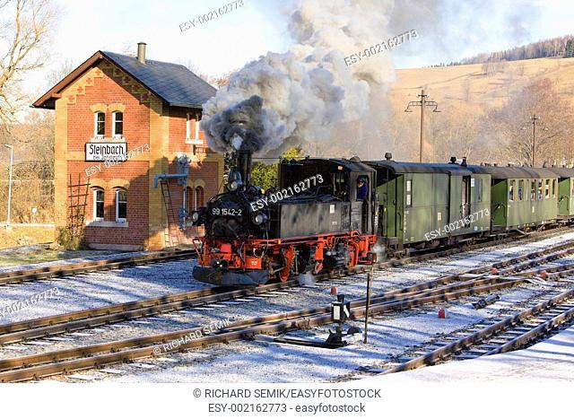 steam train, Steinbach - Jöhstadt, Germany