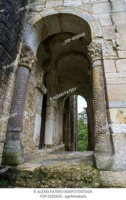 Romanesque church Santa María del Naranco in Oviedo, Asturias, Spain