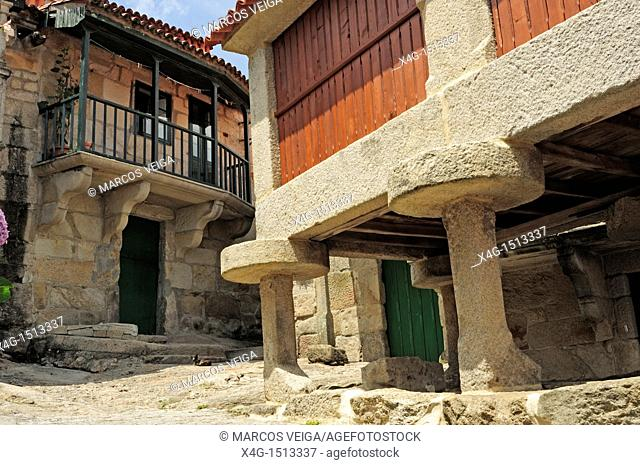 Traditional mariner village of Combarro  Poio, Pontevedra, Galicia, Spain