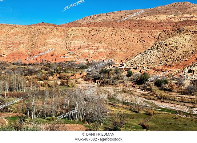 Berber village located deep in the High Atlas Mountains in Morocco, Africa. - MOROCCO, 04/01/2016