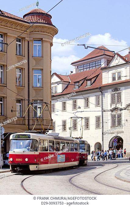 Czech Republic, Prague - Lesser Quarter Square and Traffic