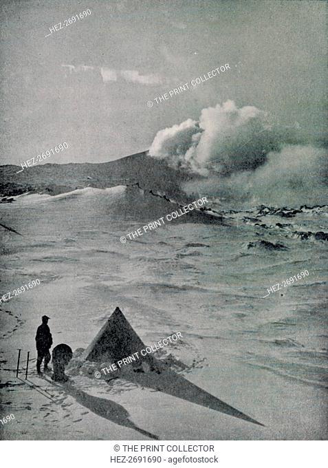 'Highest Camp in Antarctica - Active Crater', c1912, (1913). Artist: Raymond E Priestley