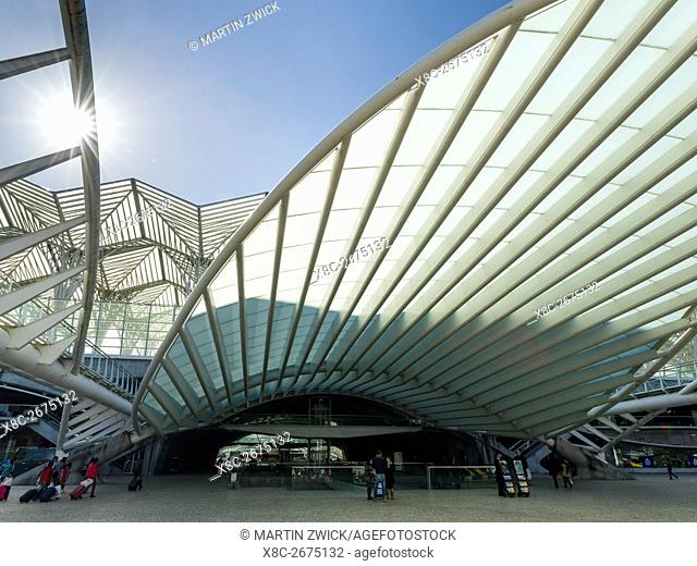 Train Station Oriente near the expo 98 area, a masterpiece by architect Santiago Calatrava and one of the symbols of the city