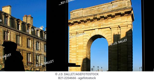 Porte de Bourgogne (1751-55 ), Bordeaux, Gironde, Aquitaine, France