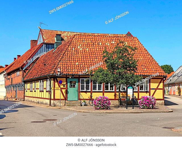 Half-timbered house in the old town of Ystad, Scania, Sweden