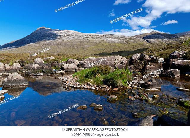 Glen Torridon view towards Sgurr Dubh, Wester Ross in the North West Highlands of Scotland, United Kingdom, Europe