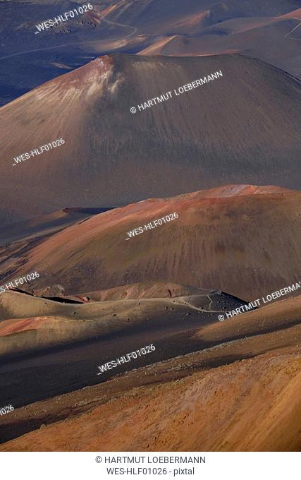 USA, Hawaii, Big Island, Haleakala National Park, detail of crater