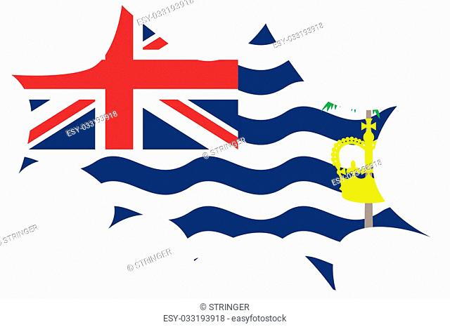 An Explosion wit the flag of British Indian Ocean Territory