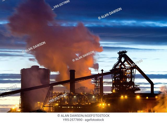 Redcar SSI Steelworks and blast furnace. Redcar, north east England, United Kingdom. The historic Redcar steelworks ceased production in October 2015 when its...