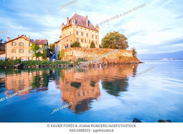 Castle of Yvoire in the shore of Leman Lake, Haute-Savoie, Rhône-Alpes, France