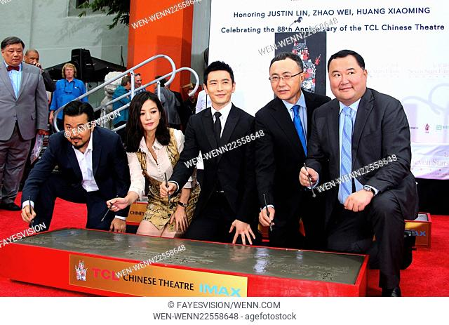 Hand Print/Birthday Bash Ceremony at the TCL Chinese Theatre IMAX Featuring: Justin Lin, Zhao Wei, Huang Xiaoming, Wang Changtian, Bruno Wu Where: Hollywood
