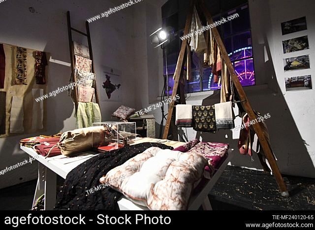 Views of the exhibition ' Herbarium, the nature like inspiration' during the Rome fashion week AltaRoma, Rome, ITALY-24-01-2020