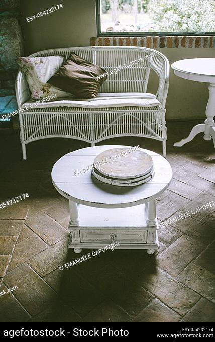 Relax corner wicker sofa