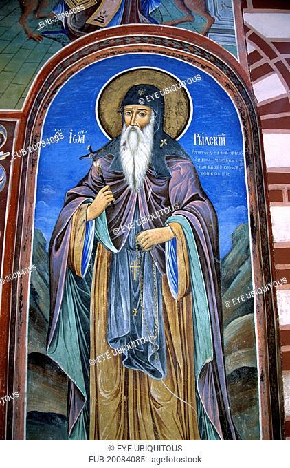 Fresco, Nativity Church, Rila Monastery