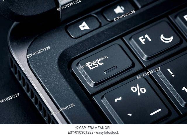 Computer keyboard - ESC button, close up