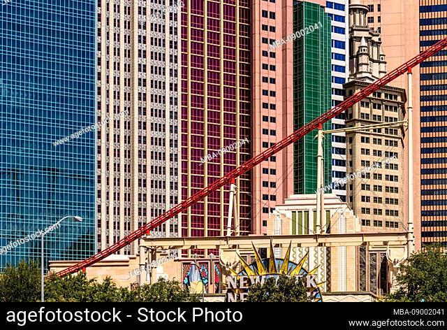 USA, Nevada, Clark County, Las Vegas, Las Vegas Boulevard, The Strip, New York-New York Hotel and Casino